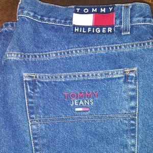 Vintage Tommy Hilfiger Men's Big Flag Logo Jean